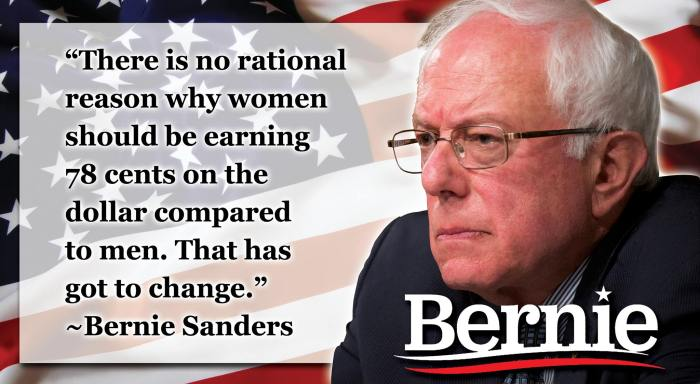 Bernie Sanders Speaks on Women's Rights