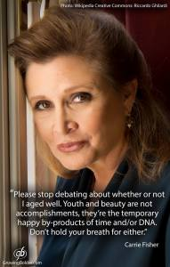 carrie fisher on women and age